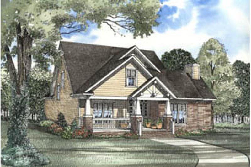 Craftsman Style House Plan - 3 Beds 2.5 Baths 2146 Sq/Ft Plan #17-2063 Exterior - Front Elevation