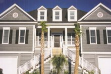Beach Exterior - Front Elevation Plan #1054-68