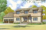Country Style House Plan - 3 Beds 2.5 Baths 2245 Sq/Ft Plan #17-2617 Exterior - Front Elevation