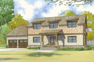 House Blueprint - Country Exterior - Front Elevation Plan #17-2617