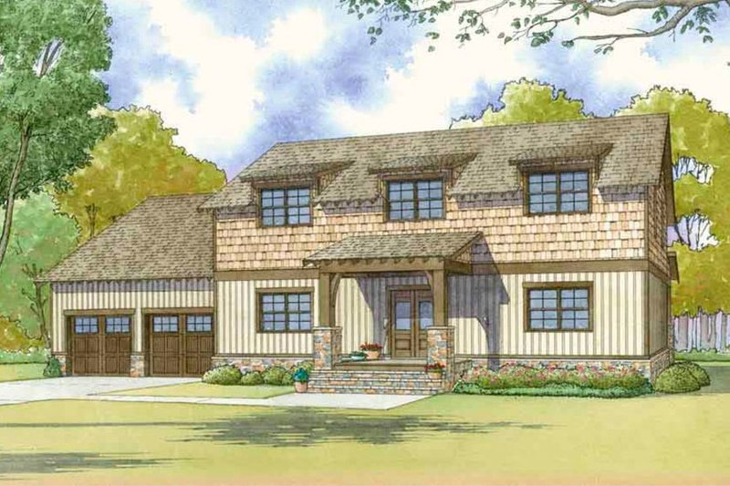 Country Exterior - Front Elevation Plan #17-2617