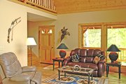 Log Style House Plan - 3 Beds 2 Baths 1601 Sq/Ft Plan #456-3 Photo