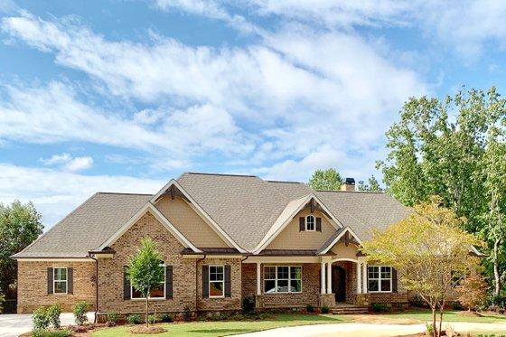 Craftsman Exterior - Front Elevation Plan #437-105