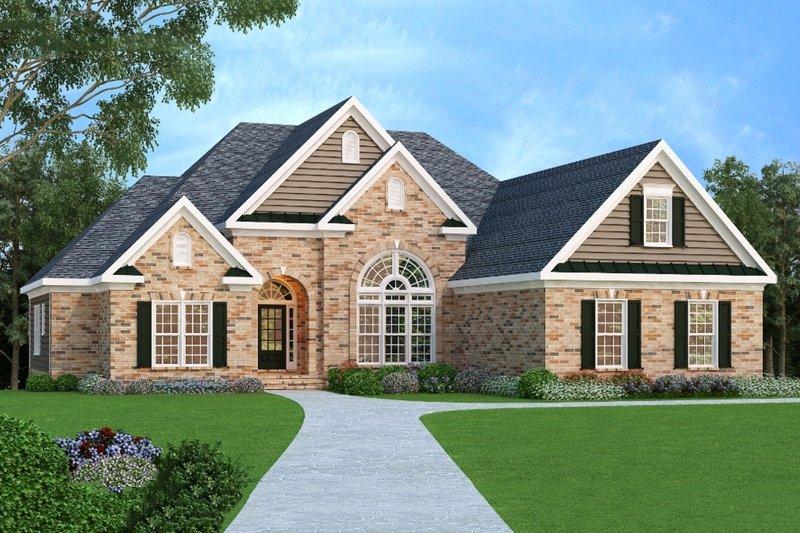 Dream House Plan - European Exterior - Front Elevation Plan #419-124