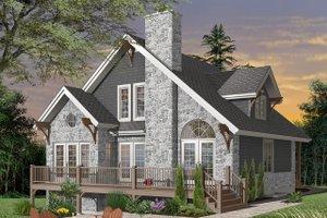 Cottage Exterior - Front Elevation Plan #23-760