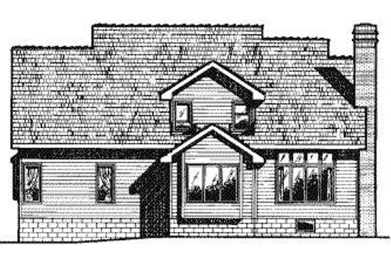 Traditional Exterior - Rear Elevation Plan #20-716 - Houseplans.com