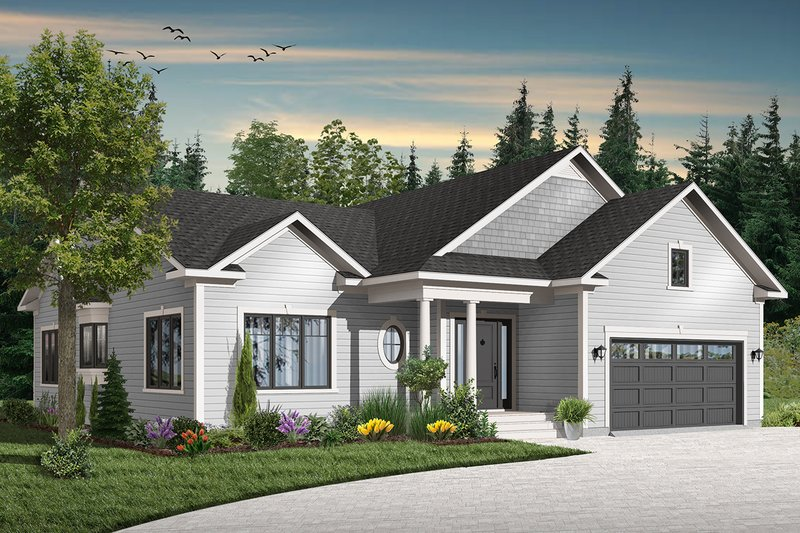 Home Plan - Traditional Exterior - Front Elevation Plan #23-645