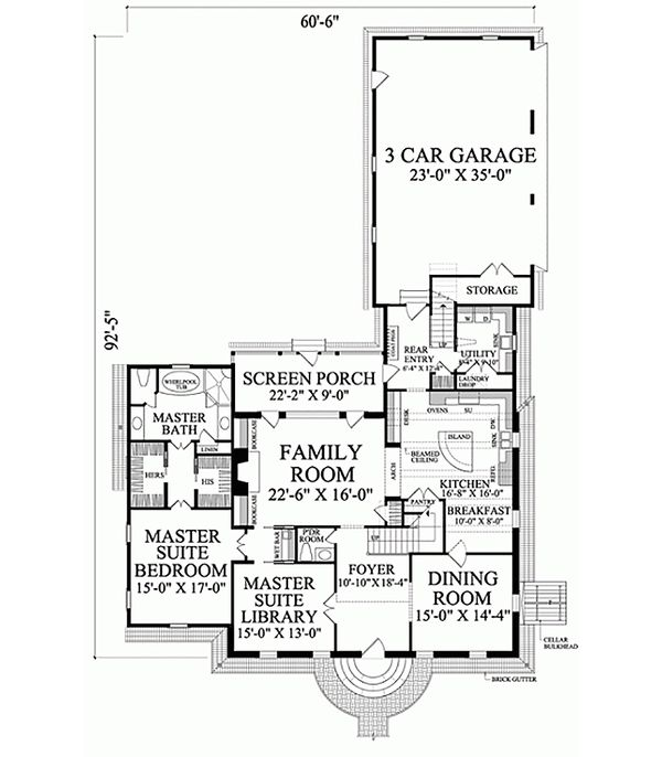 Colonial Floor Plan - Main Floor Plan Plan #137-229