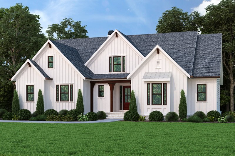 House Blueprint - Farmhouse Exterior - Front Elevation Plan #927-1014