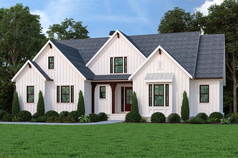 Dream House Plan - Farmhouse Exterior - Front Elevation Plan #927-1014