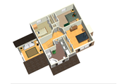 Traditional Style House Plan - 3 Beds 1 Baths 1649 Sq/Ft Plan #25-4696 Floor Plan - Upper Floor Plan
