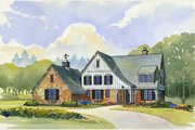 Country Style House Plan - 4 Beds 3.5 Baths 3466 Sq/Ft Plan #901-101 Exterior - Front Elevation