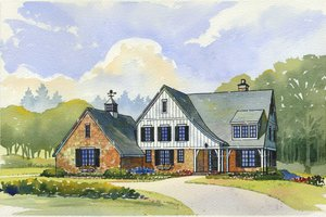 Country Exterior - Front Elevation Plan #901-101