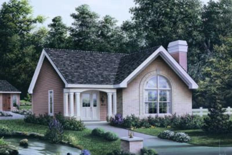 Cottage Exterior - Front Elevation Plan #57-196 - Houseplans.com