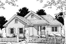 Traditional Exterior - Front Elevation Plan #20-351