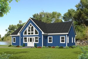 Country Exterior - Front Elevation Plan #932-363