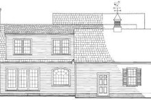 Country Exterior - Rear Elevation Plan #137-217