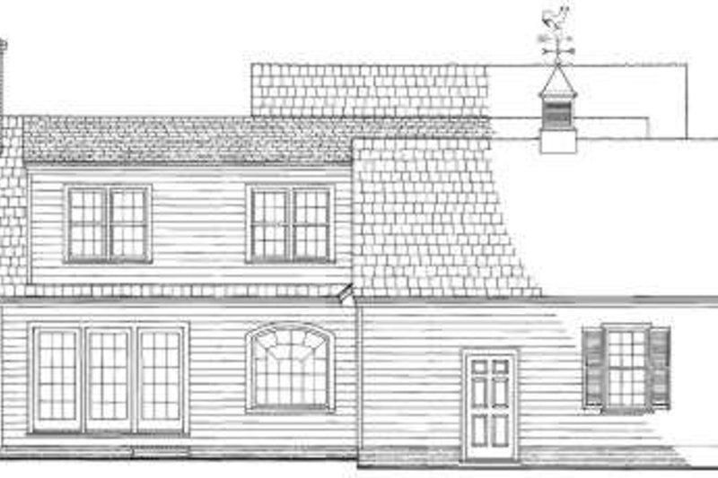 Country Exterior - Rear Elevation Plan #137-217 - Houseplans.com