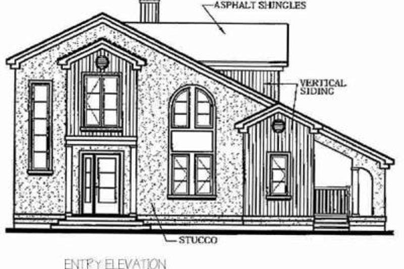 Exterior - Rear Elevation Plan #23-2033