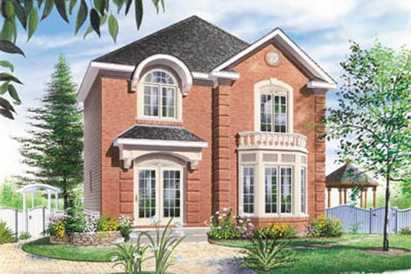 Traditional Exterior - Front Elevation Plan #23-2101 - Houseplans.com