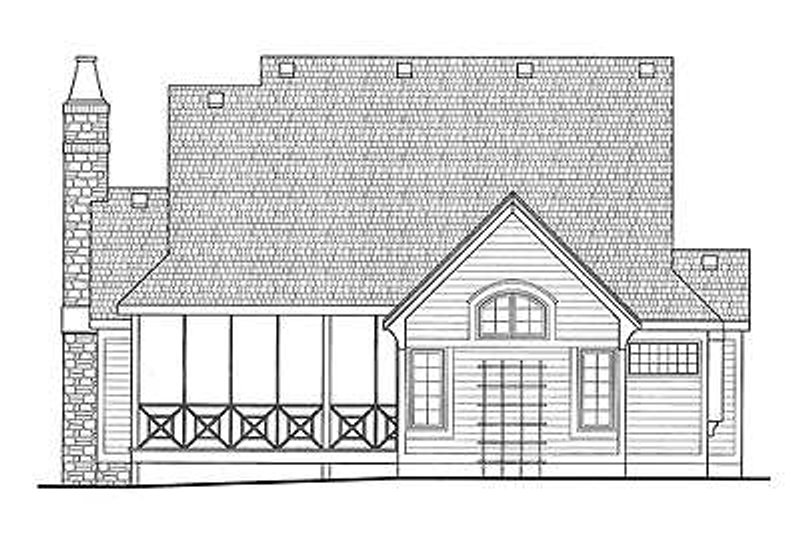 European Exterior - Rear Elevation Plan #20-1819 - Houseplans.com