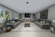 Traditional Style House Plan - 3 Beds 2.5 Baths 2176 Sq/Ft Plan #1060-37 Interior - Family Room