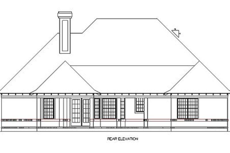 European Exterior - Rear Elevation Plan #45-357 - Houseplans.com