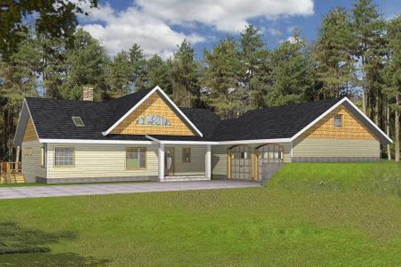 Dream House Plan - Ranch Exterior - Front Elevation Plan #117-561