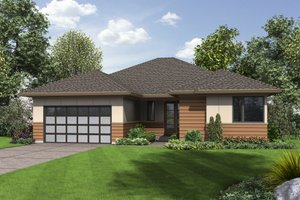 Contemporary Exterior - Front Elevation Plan #48-687