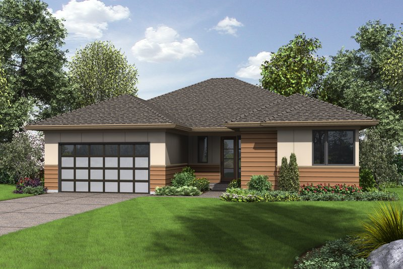 Dream House Plan - Contemporary Exterior - Front Elevation Plan #48-687
