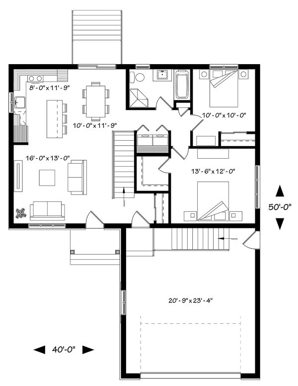 Country Floor Plan - Main Floor Plan Plan #23-2695