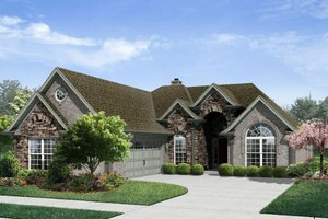 Traditional Exterior - Front Elevation Plan #329-332