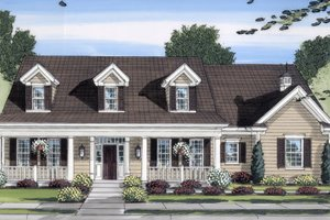 Architectural House Design - Cottage Exterior - Front Elevation Plan #46-434