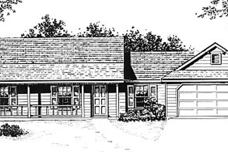Architectural House Design - Country Exterior - Front Elevation Plan #14-149