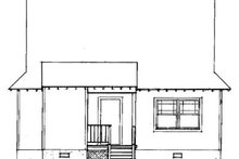 House Plan Design - Country Exterior - Rear Elevation Plan #41-104