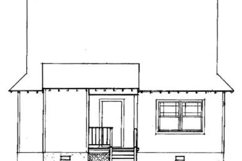 Country Exterior - Rear Elevation Plan #41-104 - Houseplans.com