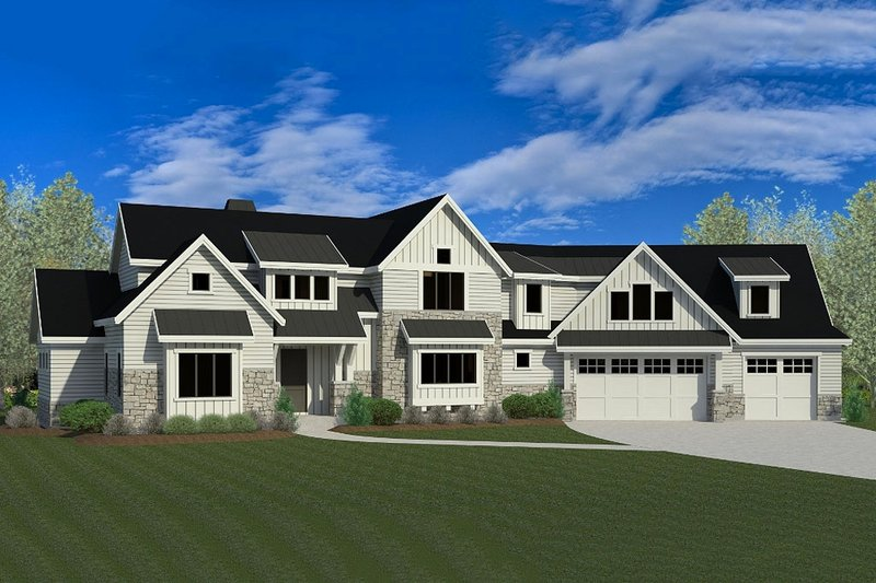 Craftsman Exterior - Front Elevation Plan #920-23