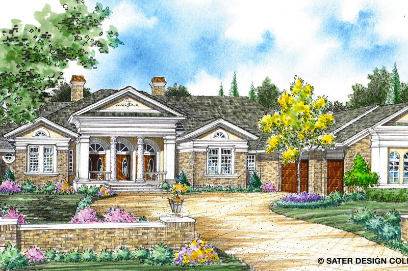 Classical Exterior - Front Elevation Plan #930-264