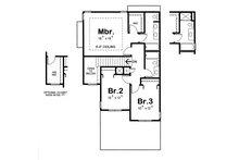Traditional Floor Plan - Upper Floor Plan Plan #20-1512