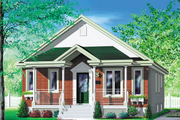 Bungalow Style House Plan - 4 Beds 1 Baths 1320 Sq/Ft Plan #25-112 Exterior - Front Elevation