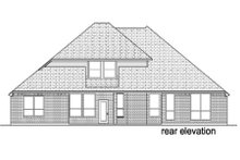 Architectural House Design - Traditional Exterior - Rear Elevation Plan #84-381