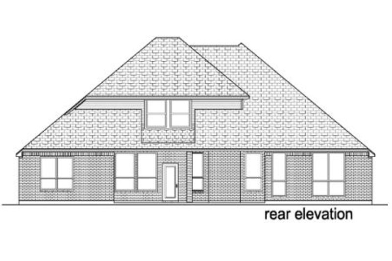 Traditional Exterior - Rear Elevation Plan #84-381 - Houseplans.com