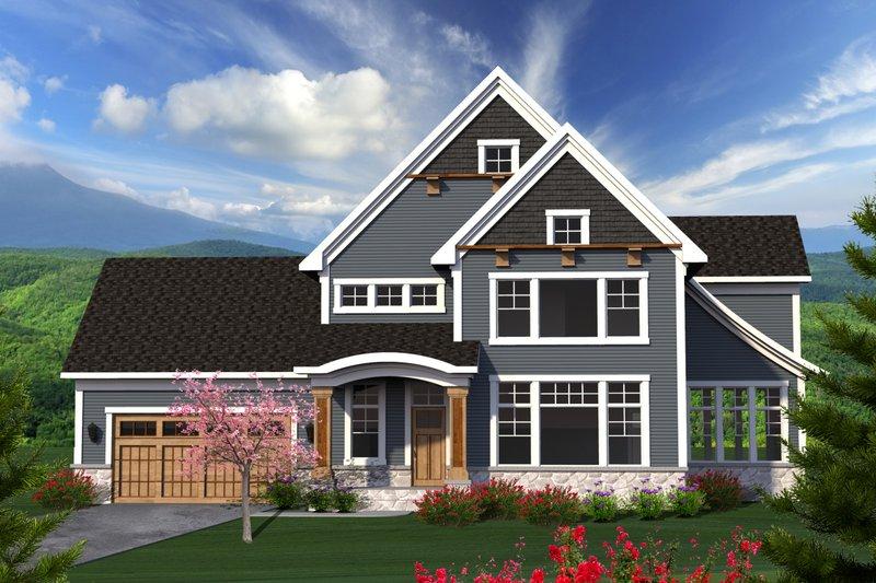 Dream House Plan - Craftsman Exterior - Front Elevation Plan #70-1224