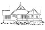 Cottage Style House Plan - 3 Beds 3 Baths 1689 Sq/Ft Plan #942-39 Exterior - Rear Elevation