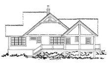Cottage Exterior - Rear Elevation Plan #942-39