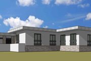 Modern Style House Plan - 5 Beds 3 Baths 5470 Sq/Ft Plan #549-17 Photo