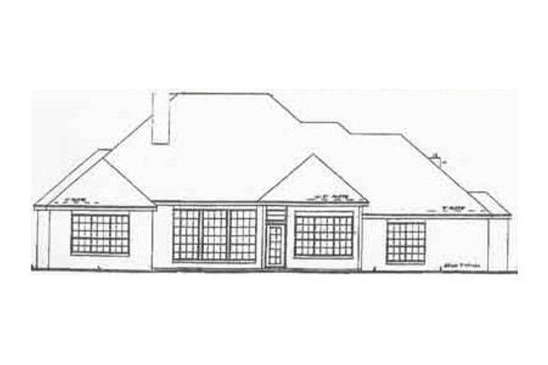 Traditional Exterior - Rear Elevation Plan #52-111 - Houseplans.com