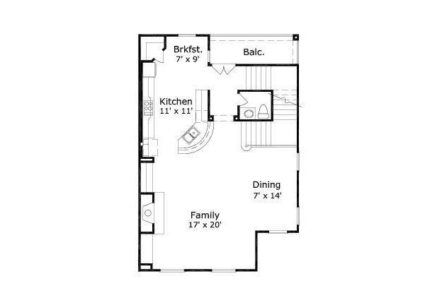 European Floor Plan - Upper Floor Plan Plan #411-681
