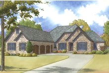 Home Plan - European Exterior - Front Elevation Plan #923-27