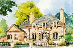 Dream House Plan - European Exterior - Front Elevation Plan #429-42